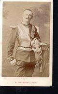 THMS MILITARIA 2; 4éme Cuirassier Photo Fin 19éme Carte De Visite CDV, Chiffre 4 Sur Le Col - Guerre, Militaire