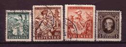 194e * SLOWAKEI * 4 WERTE * GESTEMPELT ** !! - Slowakische Republik