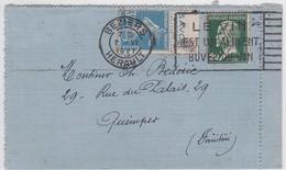 CARTE-LETTRE - BEZIERS / 7.VI.1927 - Marcophilie (Lettres)