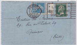 CARTE-LETTRE - BEZIERS / 7.VI.1927 - Poststempel (Briefe)