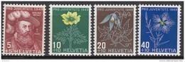 """SCHWEIZ 541-544, Postfrisch **, """"Pro Juventute"""" 1949, Nikolaus Wengi, Alpenblumen - Pro Juventute"""
