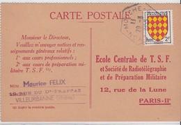 LSC - N°1003 OBL. BAU : LYON-MOUCHE / 29.3.1955 - Marcophilie (Lettres)