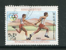 KAMPUCHEA- Y&T N°366- Oblitéré (Athlétisme) - Kampuchea