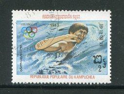 KAMPUCHEA- Y&T N°367- Oblitéré (natation) - Kampuchea