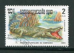 KAMPUCHEA- Y&T N°405- Oblitéré (crocodiles) - Kampuchea