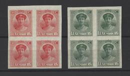 LUXEMBOURG.  YT   N° 135/136  Neuf **/*   1922 - 1921-27 Charlotte Voorzijde