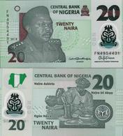 Nigeria 2018 - 20 Naira - Pick 34 UNC POLYMER - Nigeria