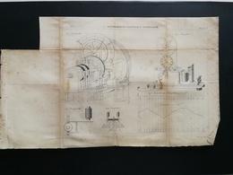 ANNALES DES PONTS Et CHAUSSEES - Plan De Fluviographe éléctrique Avertisseur - Gravé Par Macquet- 1890 (CLC50) - Cartes Topographiques