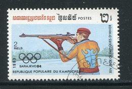 KAMPUCHEA- Y&T N°408- Oblitéré (J.O Sarajevo) - Shooting (Weapons)