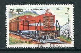 KAMPUCHEA- Y&T N°468- Oblitéré (trains) - Kampuchea