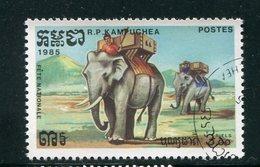 KAMPUCHEA- Y&T N°521- Oblitéré (éléphants) - Kampuchea