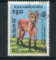 KAMPUCHEA- Y&T N°475- Oblitéré (chien Sauvage) - Kampuchea