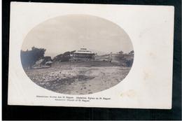 ETHIOPIE  Carte Photo Par Arnold Holtz Adis Ababa Eglise St Raguel Ca 1920 OLD  PHOTO POSTCARD - Ethiopië