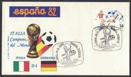 AP110   Football Soccer FIFA World Cup Spain 1982:Final Stadium Madrid: Italy - Germany  3:1 - 1982 – Espagne