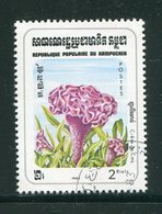 KAMPUCHEA- Y&T N°424- Oblitéré (fleurs) - Kampuchea