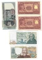 5000 Lire Colombo II° Tipo 3 Caravelle 20 05 1971 + 10000 1976 + 2000 1973 + 100 1951 Bolaffi + Di Cristina LOTTO 2447 - [ 2] 1946-… : Repubblica