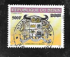 TIMBRE OBLITERE DU BENIN SURCHARGE EN 2009 N° MICHEL 1637 - Bénin – Dahomey (1960-...)
