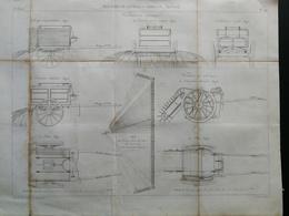 ANNALES DES PONTS Et CHAUSSEES (Angleterre) - Plan De Chaussées De Londres -Arrosage ;ébouage - Gravé Par Dulos-(CLC51) - Machines