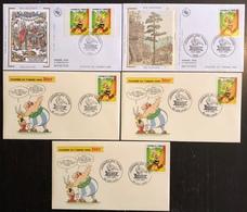 France FDC - Premier Jour - Lot De 5 FDC - Thématique Asterix - FDC