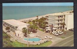 CPSM USA - FLORIDE - VENICE - THE SANDBAR BEACH-O-TEL - TB PLAN Aérien Etablissement + Automobiles Piscine MOTEL - Venice