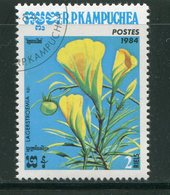 KAMPUCHEA- Y&T N°482- Oblitéré (fleurs) - Kampuchea