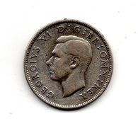 Great Britain 1937 GEORGE VI   TWO SHILLINGS (FLORIN)  USED VERY FINE CONDITION. (DH17.) - 1902-1971 : Post-Victorian Coins