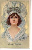 Belle Illustrée Signée COLOMBO : Femme à La Grande Coiffe - Colombo, E.