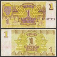Latvia / 1992 / 1 Rublis / P: 35 / VG - Latvia