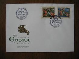 Enveloppe 1966  Tomada De Evora Aos Mouros  à Voir  (a Ver) - Marcophilie