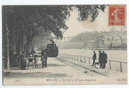 MORLAIX (29) - Le Port Et Le Cours Beaumont  -  (Train) - Morlaix