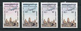 KAMPUCHEA- P.A Y&T N°32 à 35- Oblitérés - Kampuchea