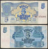 Latvia / 1992 / 5 Rubli / P: 37 / VG - Latvia
