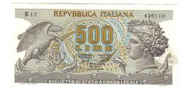 500 LIRE ARETUSA 20 06 1966 SUP/FDS  LOTTO 798 - [ 2] 1946-… : Républic