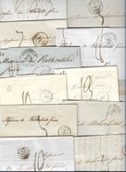 1842 Lot De 34 LAC - TOUTES LETTRES ÉCRITES À ROTHSCHILD. Ex Calais, Lyon, Tours, Le Havre, Bayonne, Marseille, Bordeaux - Poststempel (Briefe)