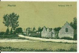 02 - MERLET / CARTE POSTALE ALLEMANDE ILLUSTREE - France
