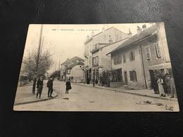 1240 - ANNEMASSE La Rue Du Commerce - 1905 Timbrée - Annemasse