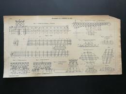 ANNALES DES PONTS Et CHAUSSEES - (Dep 74) - Plan De Déplacement De La Passerelle De Passy - 1906 (CLC54) - Travaux Publics