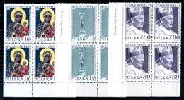 2000 POLONIA SET MNH ** Giovanni Paolo II QUARTINE - 1944-.... Repubblica