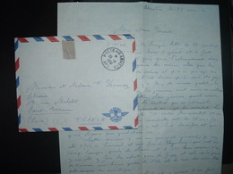 LETTRE En FM OBL.26-11 1956 POSTE AUX ARMEES AFN Pour F. THONNEY LIBRAIRIE SAINT-ETIENNE (42) - Militärstempel Ab 1900 (ausser Kriegszeiten)