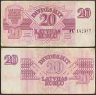 Latvia / 1992 / 20 Rubli / P: 39 / VF - Latvia