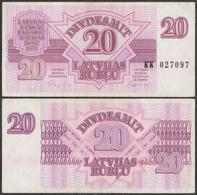 Latvia / 1992 / 20 Rubli / P: 39 / XF - Latvia