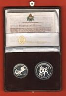500 + 1000 Lire 1992 San Marino Olimpiadi Barcellona Olympic Proof Set  + Box Saint Marin - San Marino