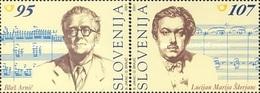 ESLOVENIA 2001 - SLOVENIE - MUSICA - COMPOSITORES - YVERT Nº 334-335** - Slovénie