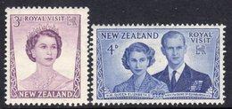 New Zealand 1953 Royal Visit Set Of 2, MNH, SG 721/2 - New Zealand