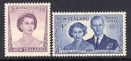 New Zealand 1953 Royal Visit Set Of 2, Hinged Mint, SG 721/2 - New Zealand