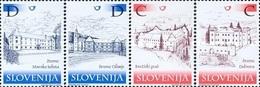 ESLOVENIA 2001 - SLOVENIE - CASTILLOS - YVERT Nº 338-341** - Slovénie