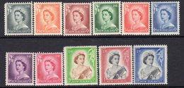 New Zealand 1953 QEII Definitives Set Of 11 To 1/6d, MNH, SG 723/33 - New Zealand