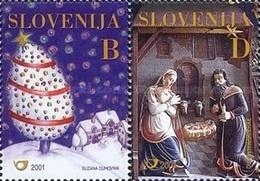 ESLOVENIA 2001 - SLOVENIE - NAVIDAD - NOEL - CHRISTMAS - YVERT Nº 342-343** - Slovénie