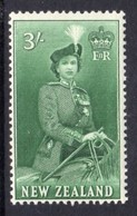 New Zealand 1953 QEII Definitives 3/- Blue-green, MNH, SG 734 - New Zealand