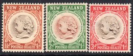 New Zealand 1955 Health Stamps Set Of 3, Hinged Mint, SG 742/4 - New Zealand